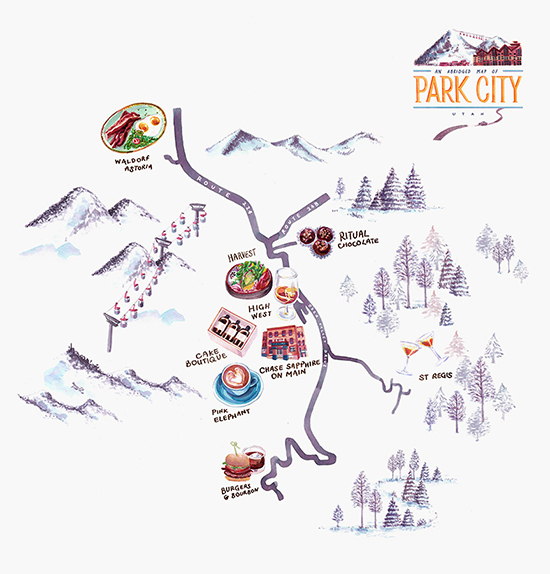 Park City Illustrated Map